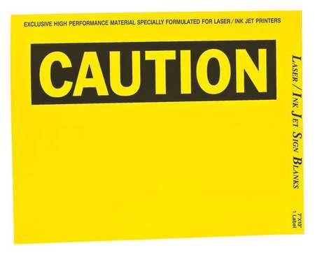 Sign & Label Blanks, Bk/Ylw/Wht, PK25
