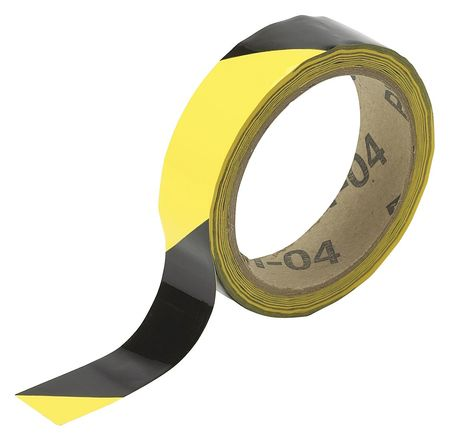Warning Tape, Roll, 1In W, 54 ft. L