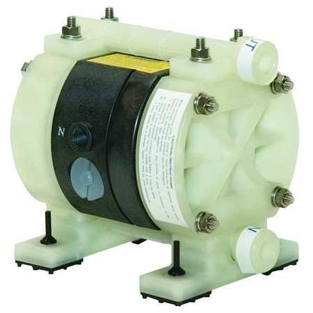 "1/4"" Polypropylene Air Double Diaphragm Pump 3.25 GPM 180F"