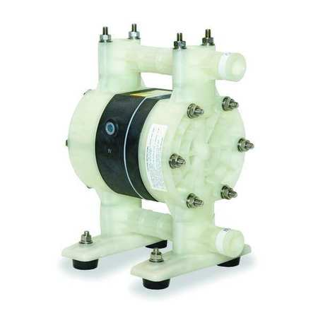 "1/2"" Polypropylene Air Double Diaphragm Pump 15 GPM 180F"