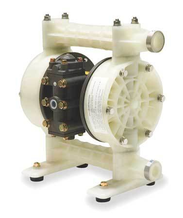 "3/4"" Polypropylene Air Double Diaphragm Pump 21 GPM 180F"