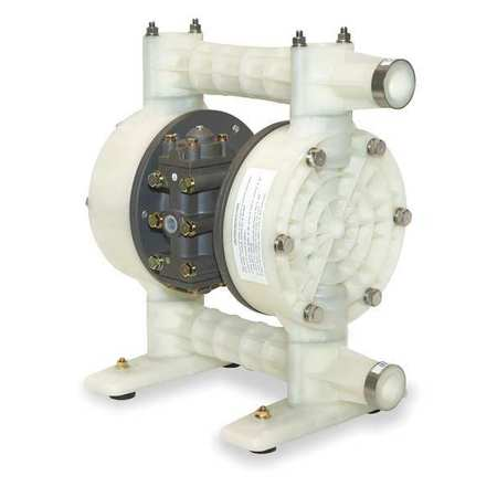 "1"" Polypropylene Air Double Diaphragm Pump 49 GPM 180F"