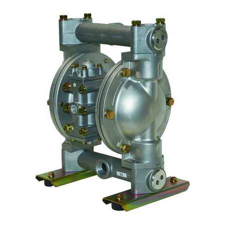"1"" Aluminum Air Double Diaphragm Pump 49 GPM 180F"