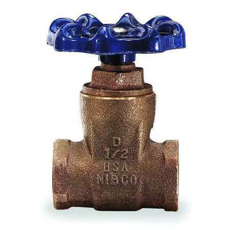 Gate Valve, 1-1/2 In., FNPT, Bronze