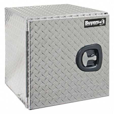 "Truck Box, Underbody, Diamond Tread Aluminum, 18""W, Silver, 3.3 cu. ft."