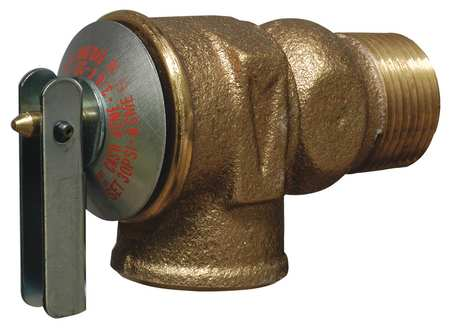 Safety Relief Valve, 3/4 In, 30 psi, Brass