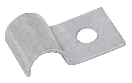 Half Clamp, Galvanized, Dia 3/16 In, PK50