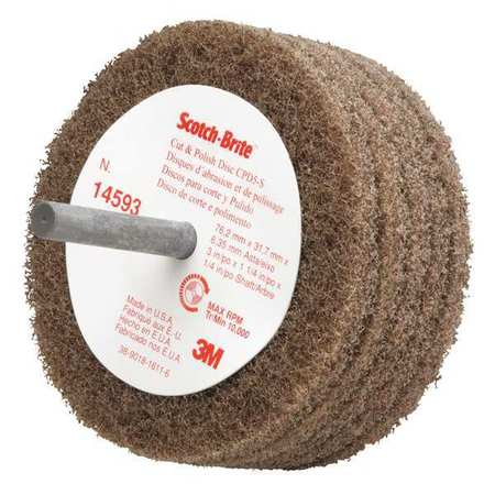 Disc, Abrasive, 3 In Dia
