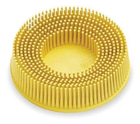 Tapered Bristle Disc, 3 In Dia, 80G