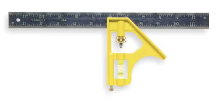 Combination Square, 12 In, Die-Cast