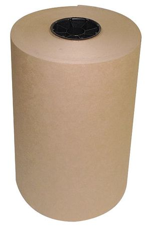 Kraft Paper, 30 lb., Brown, 12 In. W