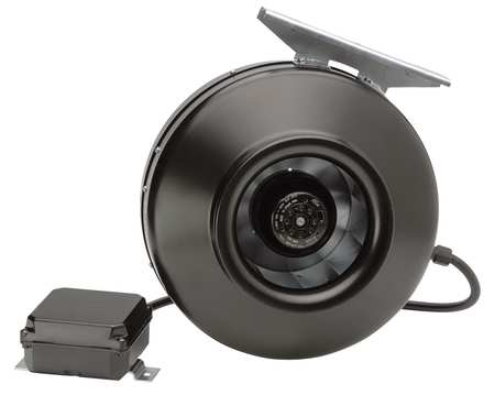 Inline Centrifugal Duct Fan, 4 In. Dia.