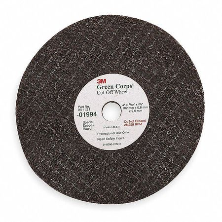 "CutOff Wheel,  Green Corps, 3""x.062""x3/8"""