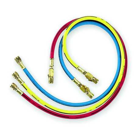 Manifold Hose Set , 36 In, Red, Yellow, Blue