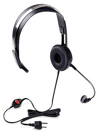 Headset, Over the Head, On Ear, Black, PTT
