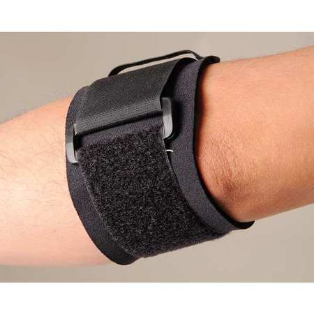 Elbow Support, XL, Black, Single Strap
