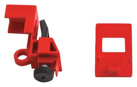 Breaker Lockout, Clamp On, 120/277V, Red