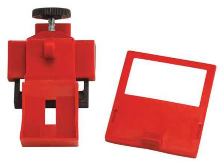 Breaker Lockout, Clamp On, 480/600V, Red