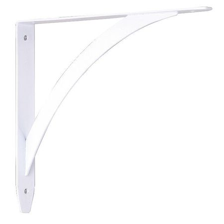 10 IN  White Elegante Shelf Bracket
