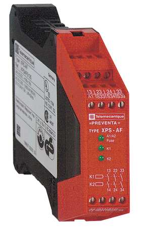 Safety Monitoring Relay, DIN Rail, 5.0VA
