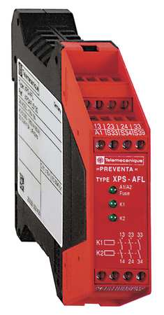 Safety Monitoring Relay, 24VAC/DC, 5.0VA