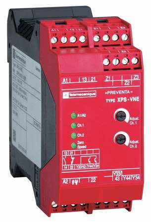 Safety Monitoring Relay, 1NO/1NC/2SS