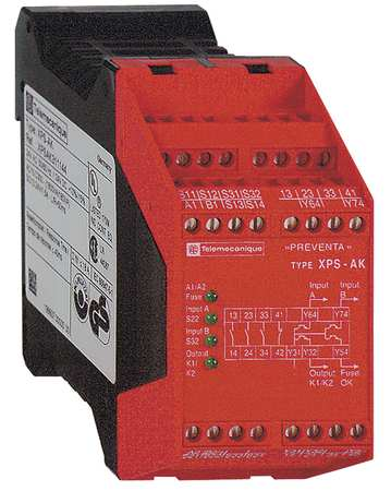 Safety Monitoring Relay, 3NO/1NC Aux./4SS