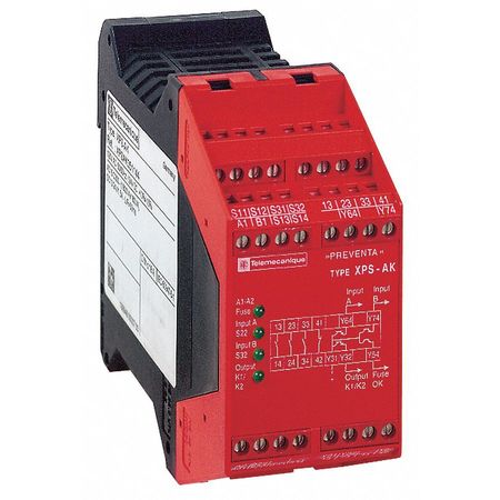Safety Monitoring Relay, 120VAC/24VDC