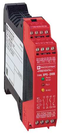 Safety Monitoring Relay, 2.5A, DIN Rail
