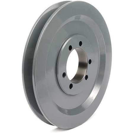 "1/2"" - 1-5/8"" Bushed Bore 1 Groove V-Belt Pulley 6.5"" OD"