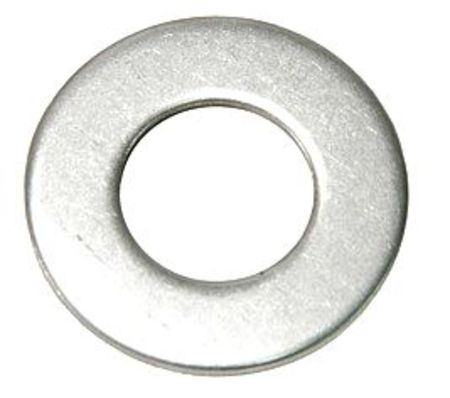 "1/4"" x 5/8"" OD Plain Finish 18-8 Stainless Steel Flat Washers,  100 pk."