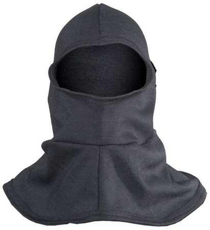Flame Resistant Hood with Bib, Black