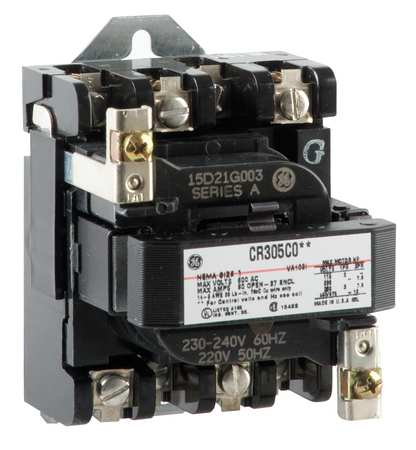 General Electric 240VAC Non Reversing Magnetic Contactor
