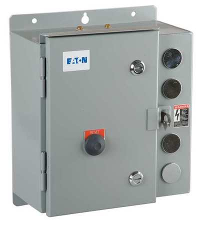 Eaton Cutler-Hammer Motor Starter, 120 VAC, NEMA 3R, 9 Amps AC ...