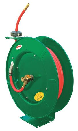 "1/4"" x 50 ft. Spring Return Hose Reel with Hose 300 psi"