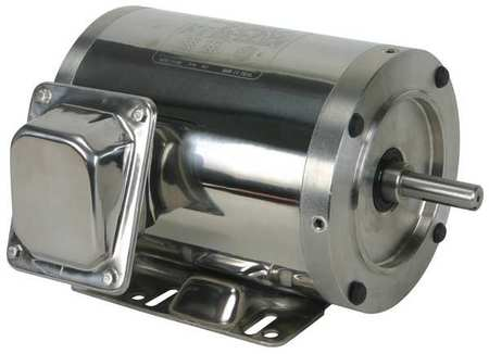 Washdown Motor, 3 Ph, TENV, 1/2 HP, 3460 rpm