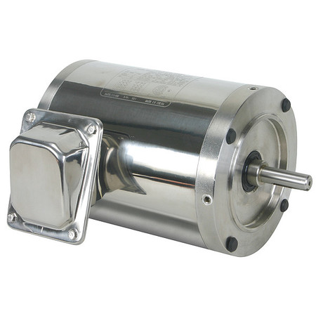 Washdown Motor, 3 Ph, TENV, 3/4 HP, 1155 rpm