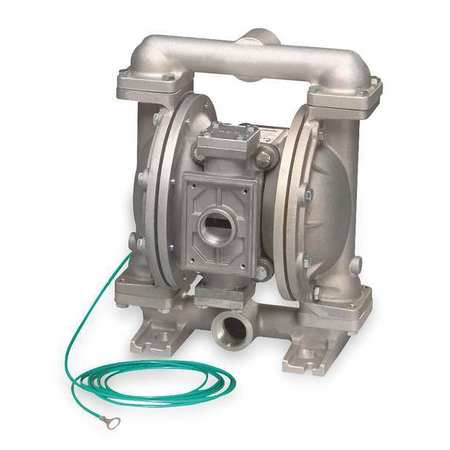"1"" Aluminum Gas Double Diaphragm Pump 45 GPM 190F"