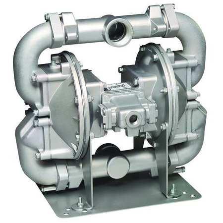 "2"" Cast Iron Air Double Diaphragm Pump 140 GPM 275F"