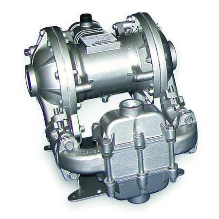 "1"" Aluminum Air Double Diaphragm Pump 42 GPM 275F"