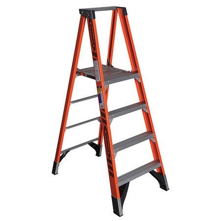 Platform Stepladder,  4 ft. ,  FGL,  375 lb.