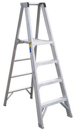Platform Stepladder,  4 ft.,  Aluminum,  375 lb.