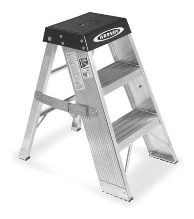 Step Stand, 36 In H, 375 lb., Aluminum