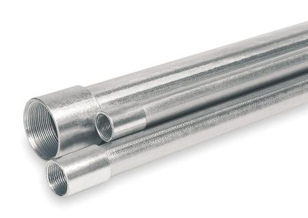 Rigid Conduit, 2 In., 10 ft. L, Aluminum