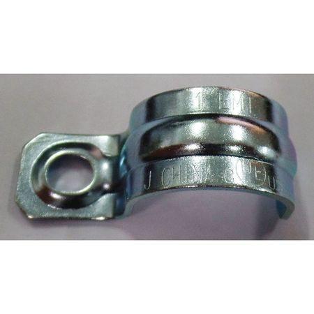 One Hole Conduit Strap, Steel, PK50