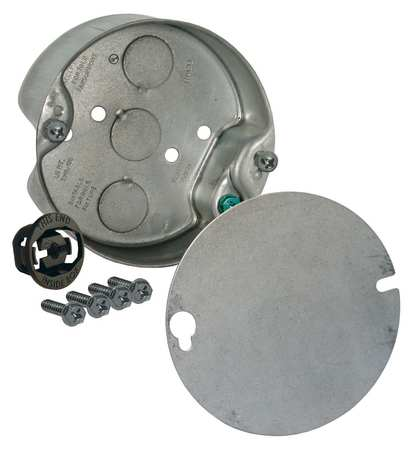 Electrical Box, Round Ceiling Pan, 4X4 in