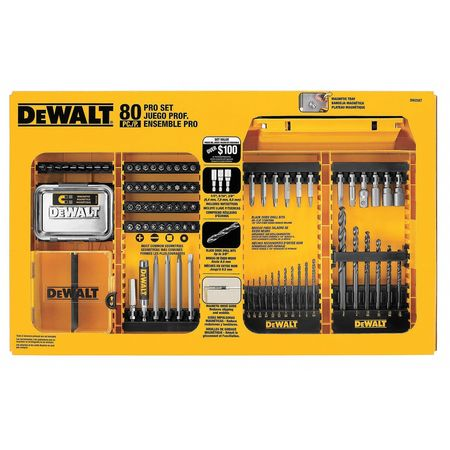 Drill and Driver Bit Set, 80 Pcs., 1/4""