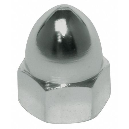 "7/8""-9 12L14 Steel Plain Finish High Crown Acorn Nut"