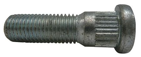 Wheel Bolt, Zinc, M12-1.5x45mm L, PK25