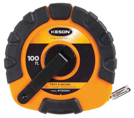 Keson Long Tape Measure 38 In x 100 ft Orange ST18100Y Zorocom